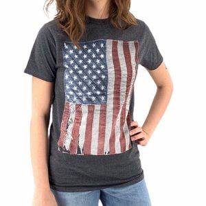 Well Worn USA Flag Tee Shirt